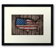 American Wood Flag Framed Print