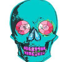 Blue Gemstone Skull  by ArtVixen