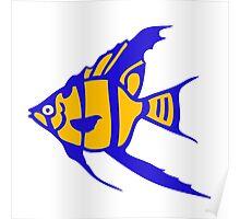 Fish angelot poisson aquarium Poster