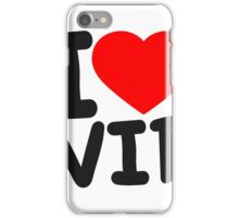 i love log herz liebe vip text shirt cool design logo very important person  iPhone Case/Skin