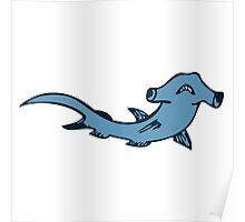 hammerhead shark requin marteau Poster