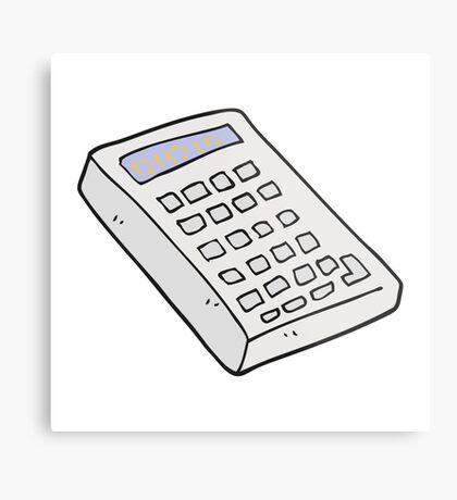 cartoon calculator Metal Print