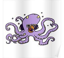 pieuvre poulpe octopus fun dj Poster