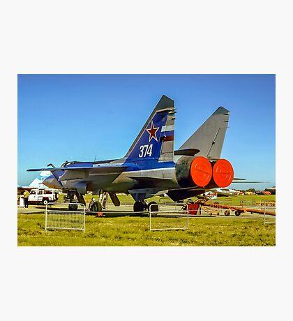 """Mikoyan MiG-31 """"Foxhound"""" white 374 Photographic Print"""