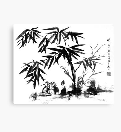 Bamboo in Water Canvas Print