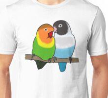 Snuggly Lovebirds Unisex T-Shirt