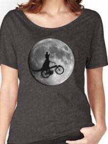 Dinosaur riding a bike! Women's Relaxed Fit T-Shirt