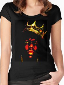 BIGGIE SMALLS (NOTORIOUS B.I.G) Women's Fitted Scoop T-Shirt