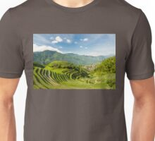 Rice fields in china Unisex T-Shirt