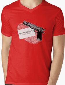 Derrick Storm Mens V-Neck T-Shirt