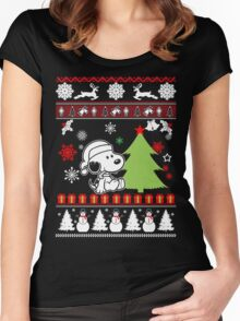 Snoopy  Happy Christmas  Women's Fitted Scoop T-Shirt