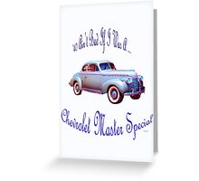 Birthday products for a 40 yr. old; Chevy Greeting Card