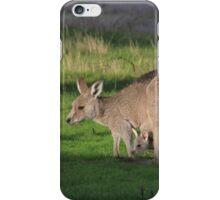 Eastern Grey Kangaroo and Joey iPhone Case/Skin