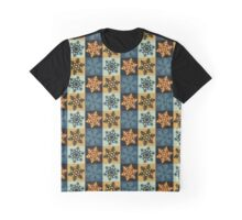 Chequered Snowflake #3 Graphic T-Shirt