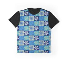 Chequered Snowflake #2 Graphic T-Shirt
