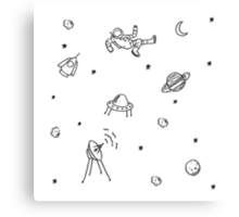 Doodle Space Inverted Canvas Print