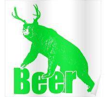 Beer fun green Poster