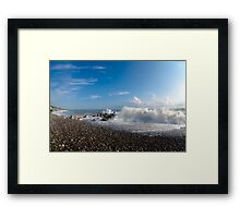 Clouds or foam? Framed Print