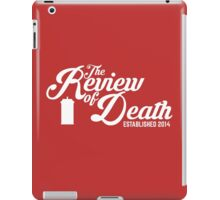 'The Review of Death' Vintage Swirl Logo iPad Case/Skin