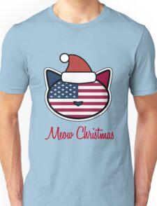 Meow Christmas U.S.A. Unisex T-Shirt
