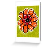 Orange Flower Burst Greeting Card