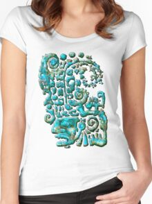 Olmec Head assembly instructions Women's Fitted Scoop T-Shirt