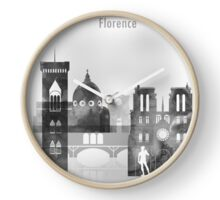 My artistic view of Florence city. The design is a mixed technique of hand-painted watercolor and computer processing Clock
