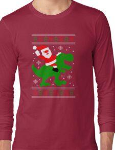 Ugly Christmas Sweater - Santa T-rex Long Sleeve T-Shirt