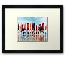 Surfers Framed Print
