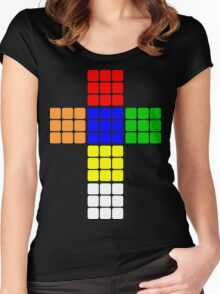 Rubik large Women's Fitted Scoop T-Shirt