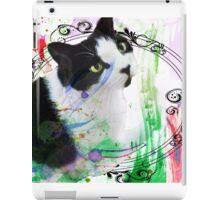 Fancy Painterly Cat [Blank, Transparent] iPad Case/Skin