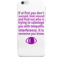 Telepathy iPhone Case/Skin