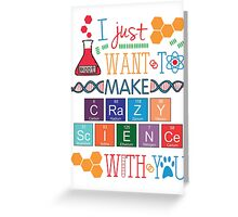 Crazy Science - Orphan Black Greeting Card