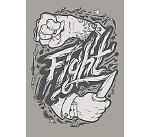 Fight Photographic Print