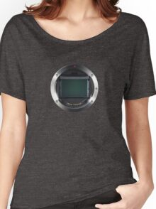 Lens Mount - Attach Lens Here Women's Relaxed Fit T-Shirt