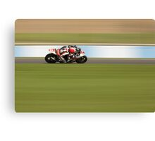 Motorcycle Racing Canvas Print