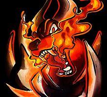 MEGA HOUNDOOM - FIRE FANG by Iris-sempi