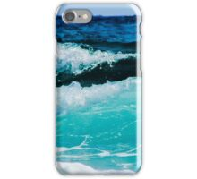 Aqua Ocean Waves Crashing on the Sea Shore iPhone Case/Skin