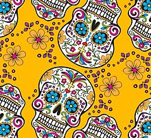Sugar Skull YELLOW by HolidaySwagg