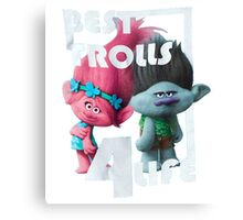 Trolls Girls' Big Girls' Best 4-Life Short Sleeve T-Shirt Canvas Print