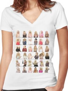 UNHhhh Women's Fitted V-Neck T-Shirt