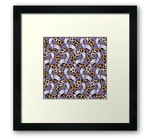 Leopards'n Lace - Purple Framed Print