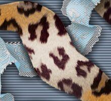 Leopards'n Lace - Blue Sticker