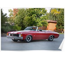 1972 Chevelle Super Sport Convertible SS454 Poster