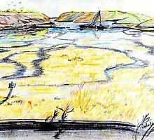 Upper Newport Bay 3 by ArtbyLeclerc