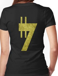Credit sign Womens Fitted T-Shirt