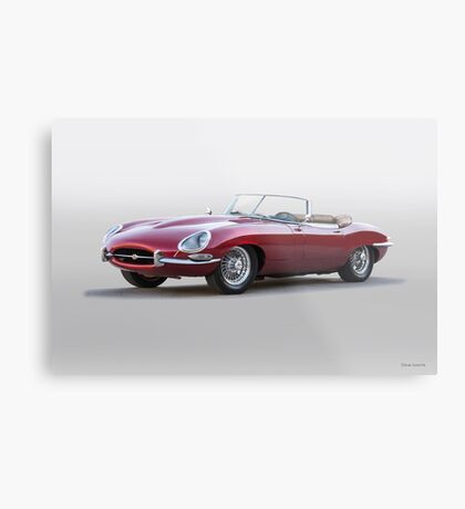 British E-Type Roadster 'Replica' Metal Print
