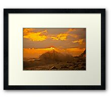 Storm at sunset Framed Print