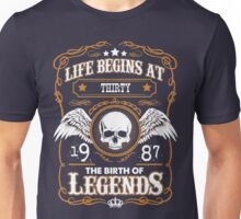 Legend Since 1987 30 Years Old Birthday Gifts T-Shirt Unisex T-Shirt