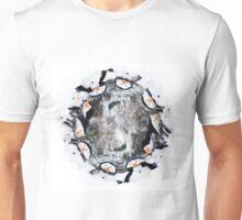 Cute little snowman in a circle Unisex T-Shirt